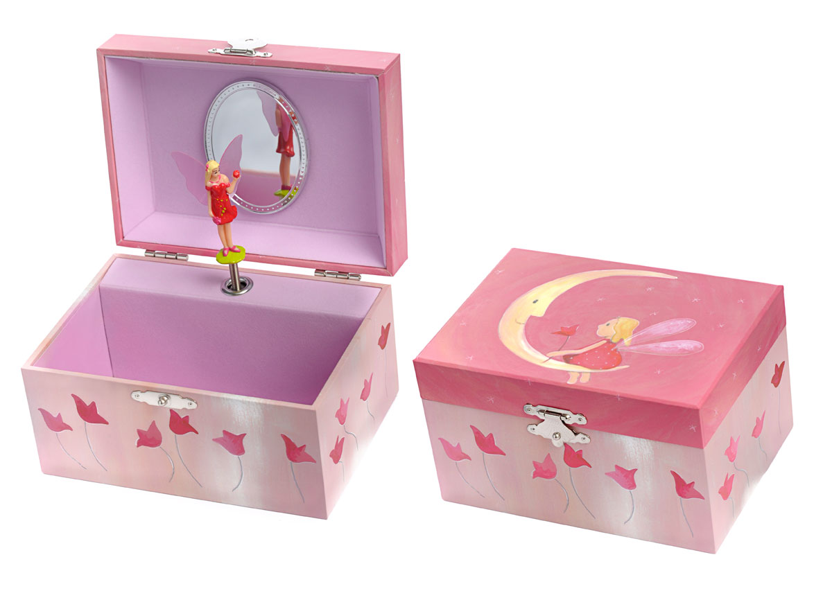 MUSICAL JEWELRY BOX PINK MOON