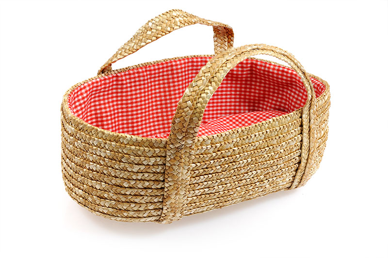 Straw Doll/Teddy Carry Basket