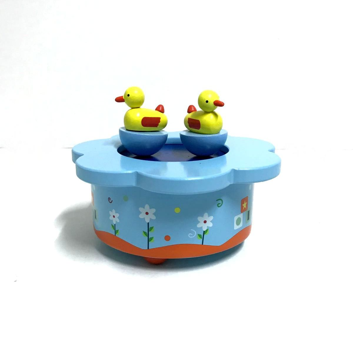 WOODEN MAGNETIC MUSIC BOX Ducks