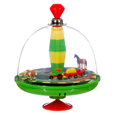 ELECTRONIC FARMYARD SPINNING TOP