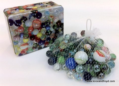 MARBLES  TINS OF 800 GRAM WEIGHT