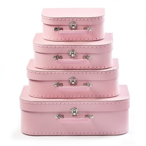 Set of 4 Suitcases Pastel Pink