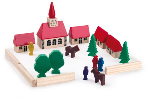 Wooden Block set  village church