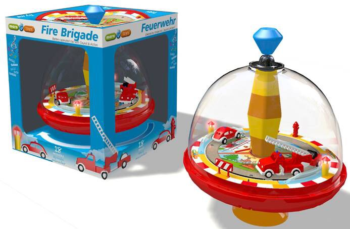 ELECTRONIC FIRE ENGINE SPINNING TOP