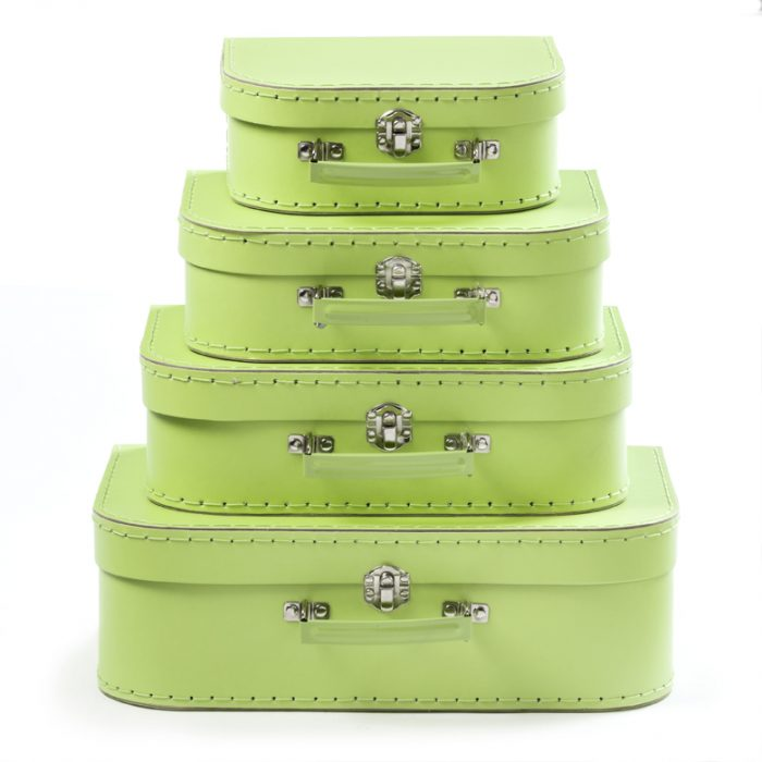 Set of 4 Suitcases Apple Green