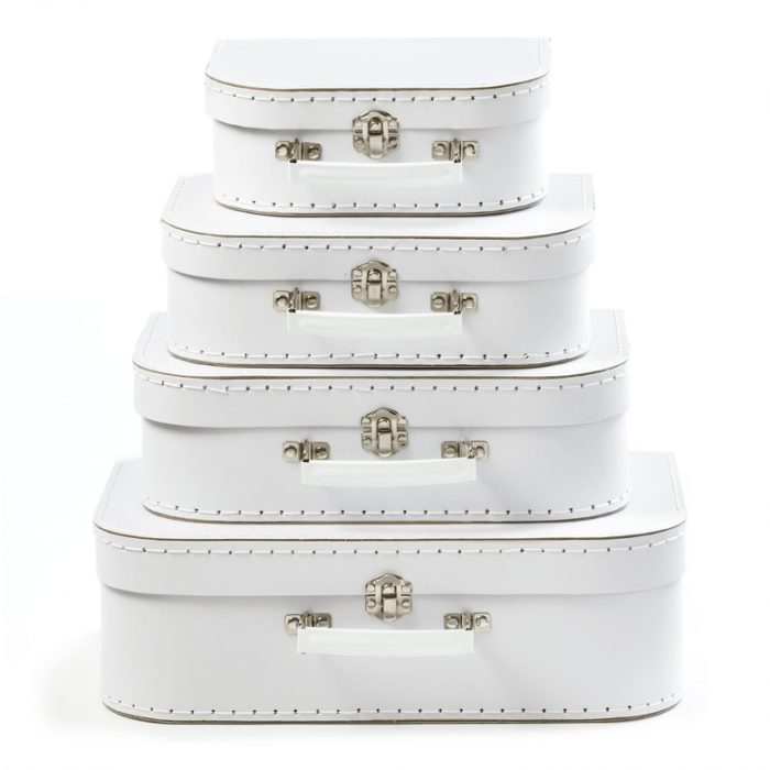 Set of 4 Suitcases White sold out until November 18