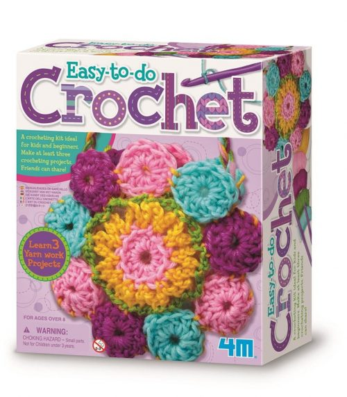 This cute 4M crocheting kit is ideal for kids and beginners. It is the first basic step to learn the fundamental of crocheting.