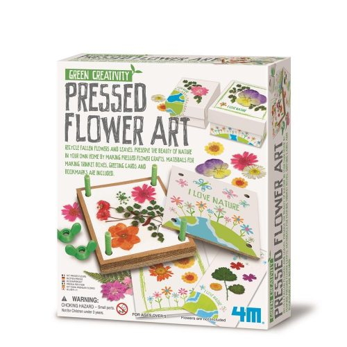 With 4M pressed flower art kit kids can preserve the beauty of nature in their own home by making pressed flower crafts.