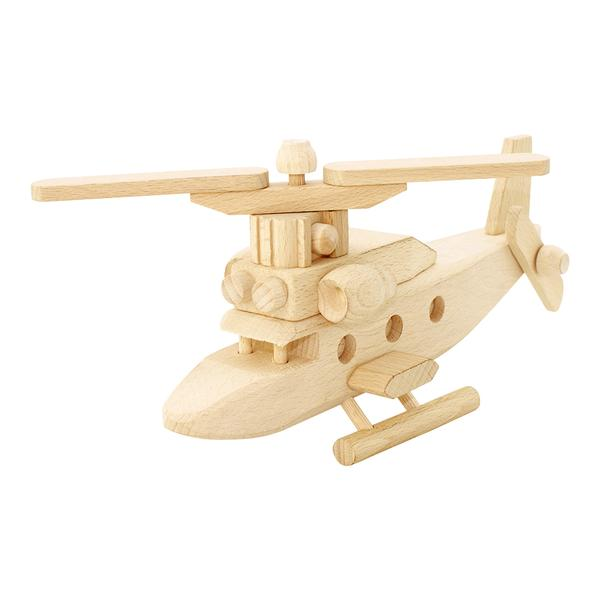 Wooden helicopter Chase from Bartu toys are unique, heavy-duty and will create hours of imaginative playtime. It is handmade with natural Ash and Beechwood.
